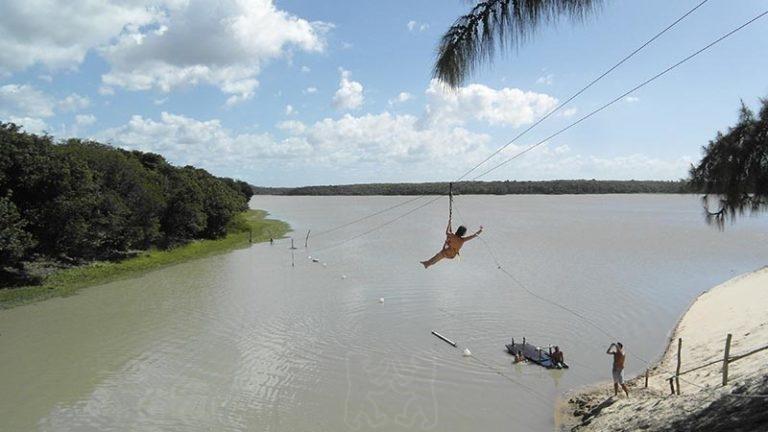 Waterslide in Lagoa Banana